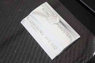 2012 Iconic AC Roadster chassis plaque