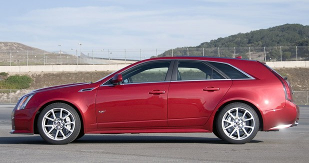 2011 Cadillac CTS-V Wagon side view