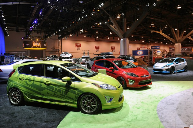Ford Fiestas at the 2010 SEMA Show