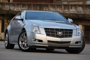 2011 Cadillac CTS Coupe front 3/4 view