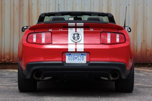 2011 Ford Shelby GT500 Convertible rear view
