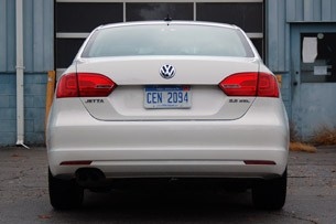 2011 Volkswagen Jetta rear view