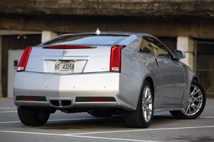 2011 Cadillac CTS Coupe rear 3/4 view