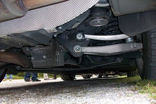 2012 BMW 1-Series M Coupe Prototype rear suspension