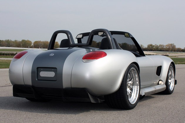 2012 Iconic AC Roadster rear 3/4 view