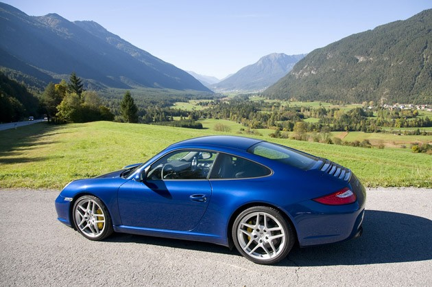 2010 Porsche 911 Carrera S rear 3/4 view
