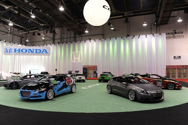 Custom 2011 Honda CR-Zs at the 2010 SEMA Show