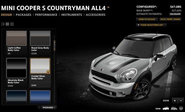 Mini Countryman Configurator