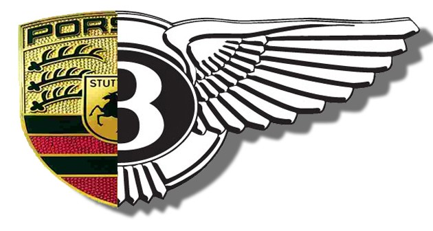 Porsche Bentley mash-up logo