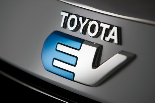 Toyota and Tesla producing electric vehicles