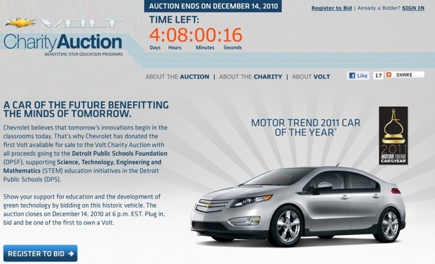 chevy volt charity auction