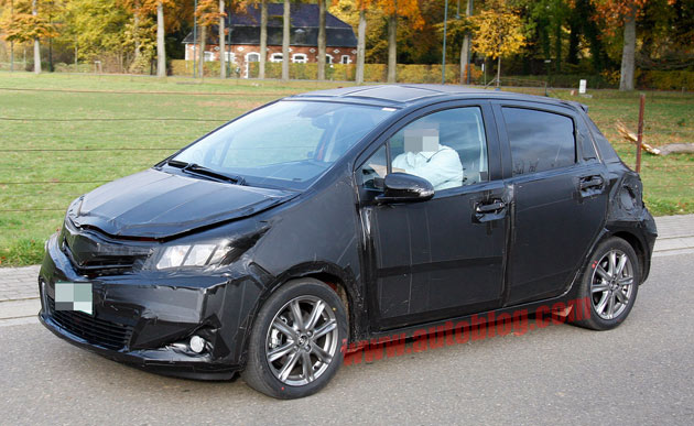 2012 Toyota Yaris spy shots