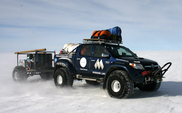Toyota Hilux goes to Antartica – Click above for high-res image