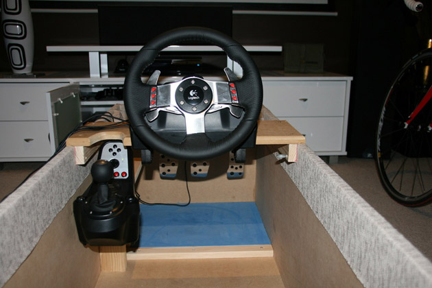 DIY Racing Cockpit Ottoman