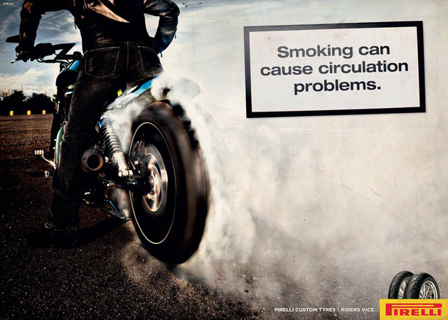 Pirelli Motorcycle Tire Ads