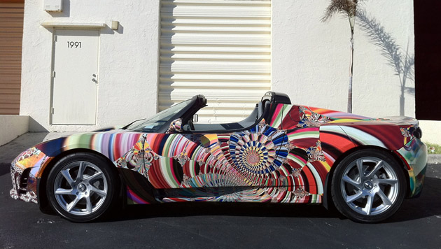 Laurence Gartel Tesla art car