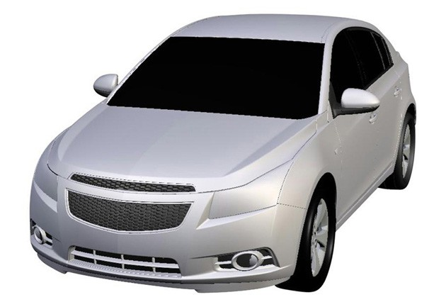 Chevrolet Cruze hatchback trademark drawing