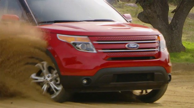2011 Ford Explorer playing in the dirt