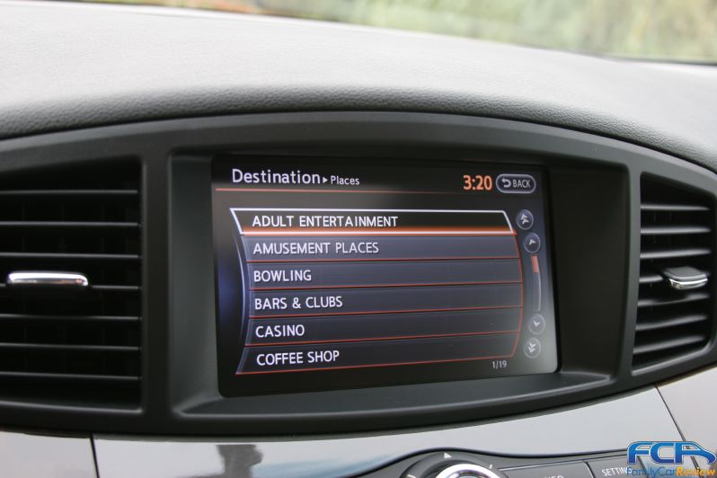 2011 Nissan Quest navigation menu