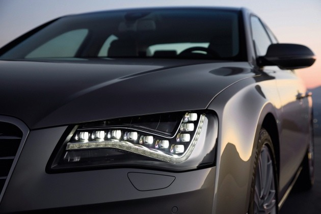 Audi A8 LED lights