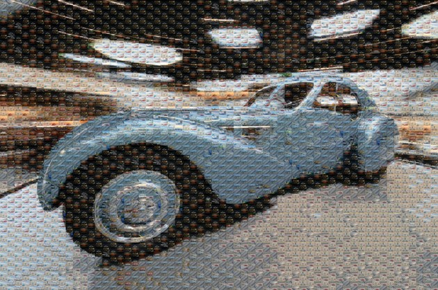 Autoblog's Top 100 Photographs of 2010 - Bugatti turntable mosaic