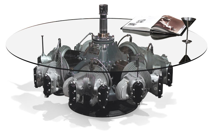 Continental radial engine coffee table
