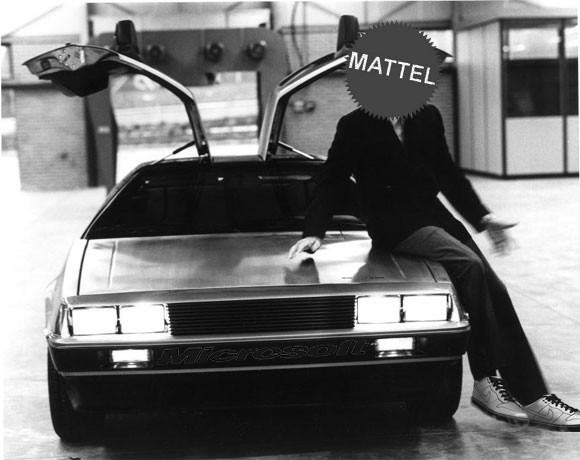 Delorean with Microsoft and Mattel