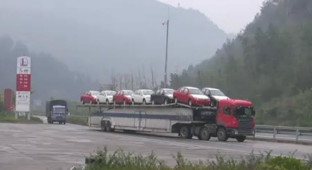 The Amazing Double Decker & Double Sided Car Transporter