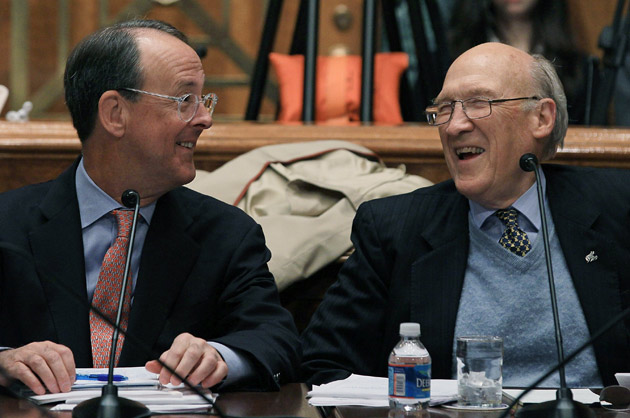 Senator Alan Simpson and Erskine Bowles
