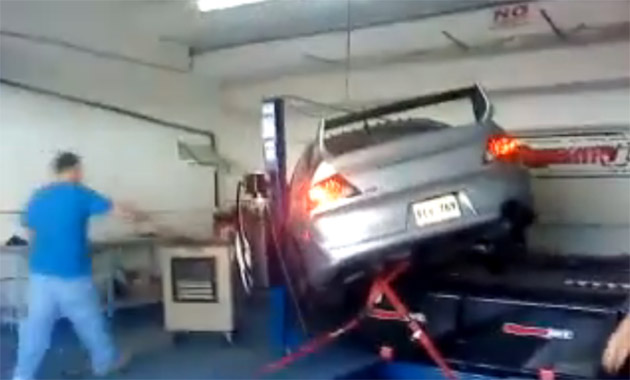 Mitsubish Evo dyno disaster