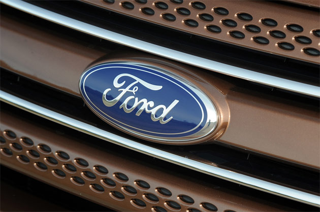 Ford grille closeup