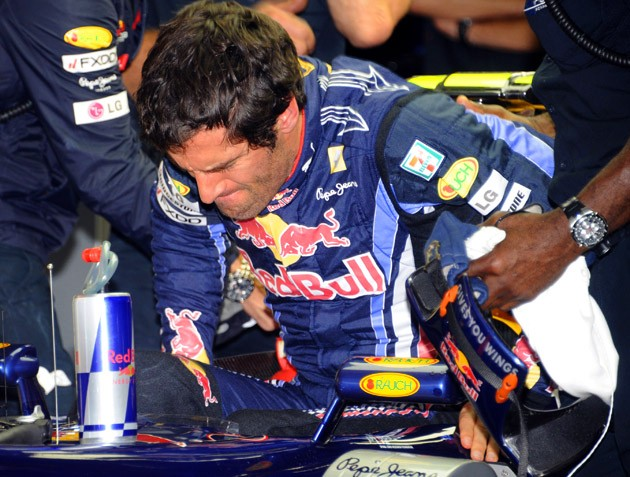 F1 racer Mark Webber