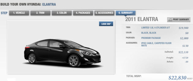 2011 Hyundai Elantra Configurator Hits The Web