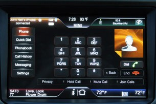 2011 Lincoln MKX touch screen