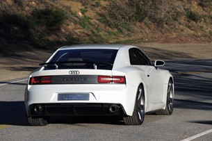 Audi Quattro Concept rear 3/4 driving view