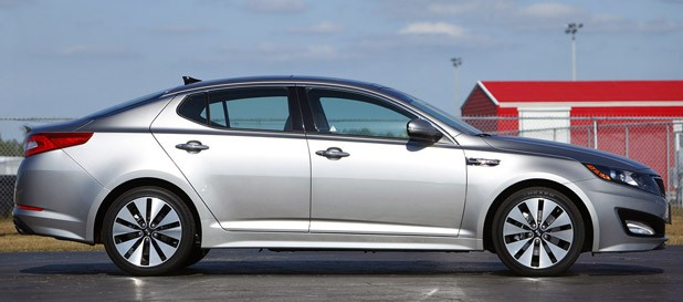 2011 Kia Optima 2.0T side view