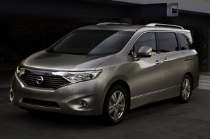 2011 Nissan Quest front 3/4 view
