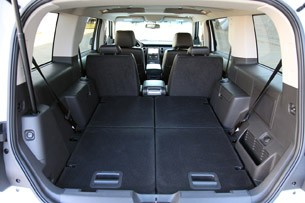 2011 Ford Flex Titanium rear cargo area