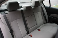 2011 Chevrolet Cruze 1LT rear seats
