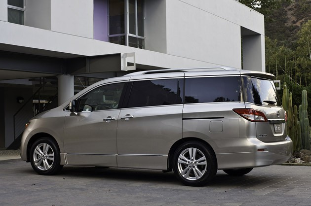2011 Nissan Quest rear 3/4 view