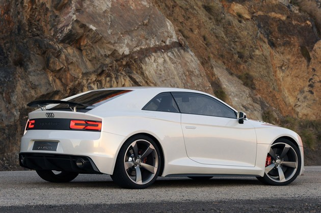 Audi Quattro Concept rear 3/4 view
