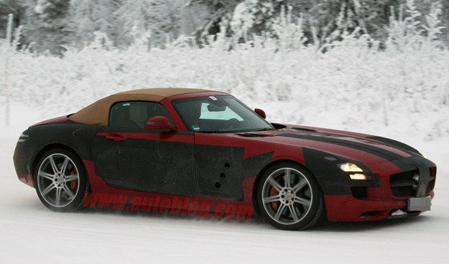 Mercedes-Benz SLS AMG Roadster spy shots