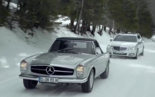 Video mercedes benz pits old foes against each other for for Mercedes benz new advert