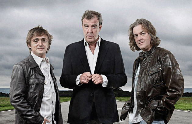 Top Gear's Richard Hammond, Jeremy Clarkson, and James May