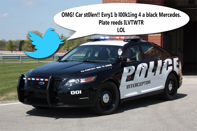 Police using Twitter