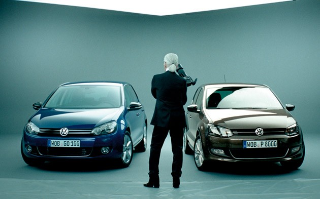 Karel Lagerfeld with VW Golf and Polo Style