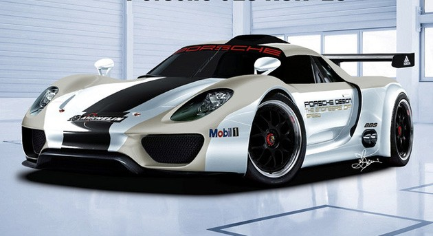 2013 Porsche 918 RSR rendering