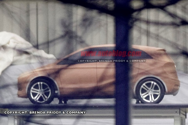 2012 Mercedes-Benz A-Class spy shot