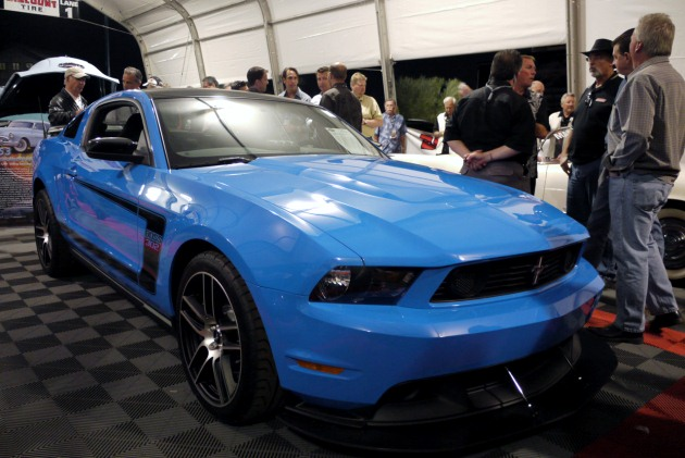 2012 Ford Mustang Boss 302 Laguna Seca in Grabber Blue
