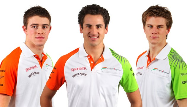 Di Resta, Sutil and Hulkenberg at Force India 2011